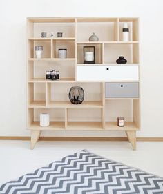 Shelves – customized handmade plywood bookcase for kids APEX – a unique product by WoodRepublic on DaWanda