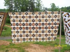 1800's Civil War Star Twin size made this quilt longer to cover over pillows.
