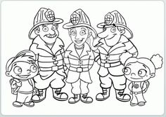 Fire Department - Fire Engine Coloring Pages. When it burns, it roars with sirens and blue lights - the fire department. The brave firefighters pull t. Super Coloring Pages, Truck Coloring Pages, Coloring Pages For Girls, Coloring Pages To Print, Coloring Book Pages, Coloring For Kids, Printable Coloring Pages, Coloring Sheets, Community Helpers Crafts