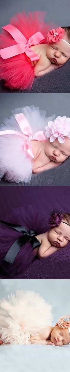 Plan your new born baby vintage photoshoot - Birthday set: skirt and a headband. Comes in pink, purple, blue, green, ivory, beige colors. Get it at $7.99