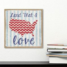 "Stratton Home Decor ""Land That I Love"" Wall Art"