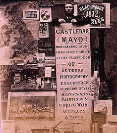 Thomas J. Wynne advertising his Photographic Studio, Castlebar, Co. Mayo, Ireland, ca 1880