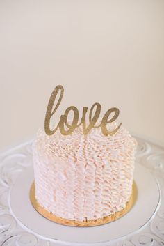 Glitter love Cake Topper for by ConfettiCrownDesign on Etsy