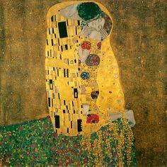 The Kiss, Gustav Klimt, 1907/08. Galerie Belvedere, Vienna