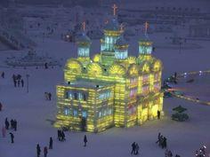 Ice sculpture, Harbin, China…