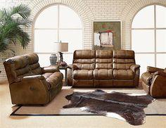 Garrett Traditional Saddle Leather Vinyl Match 3pc Living Room Set