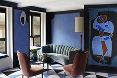 pale blue living room