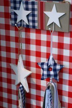 Leuk kapstokje voor stoere jongens! Slaapkamer   Red White Blue Star
