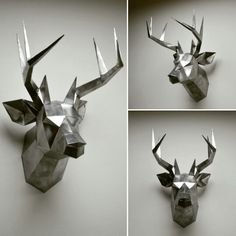 You can make your own deer head for wall decoration! Printable DIY template (PDF)