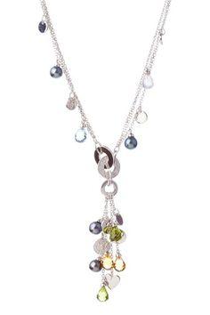 Multi-Stone Drop Necklace