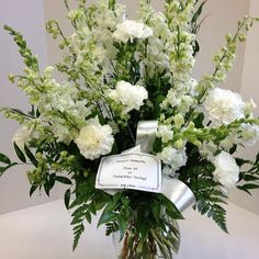 #allwhite #carnations #larkspur