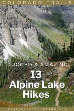 Alpine Lake hikes are one of the most rewarding day adventures Colorado has to offer. Getting above tree line after hiking through rugged, sometimes steep terrain into rolling tundra below snowcapped peaks to an alpine lake is challenging yet exhilarating. The trails listed are just such hikes to some of Colorado's most incredible alpine lakes. Family Adventure, Adventure Travel, Snowboard, Alpine Lake, Colorado Hiking, Best Hikes, Day Hike, Hiking Trails, Travel Usa