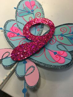 Winx club Bloom wings inspired cake topper, winx club party, winx club theme party decoration, winx club party ideas