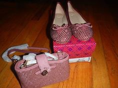 Bling your way thru the Holidays! Tory Burch purse and flats #rare #sale