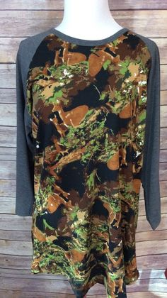 2b292fa1d4746 Lularoe Deer Camo Hunting Camouflage Randy 3XL Major Unicorn | eBay