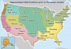 This map shows the political geography of native american tribes before the colonization of Europeans. This connects to Human Geography because it shows the political geography of the native americans and we can see how much has changed since then. Us History, Family History, Ancient History, British History, Black History, Native American Map, American Symbols, American Women, American Art