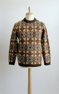 1970's JANUS OF NORWAY knitted patterned