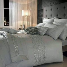 Good Regal Elegance · Silver Bedding SetsBeautiful BedroomsBeautiful ...