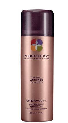 This is great for straight styles.  Gives you protection against heat styling, but hair stays light and flowy :)