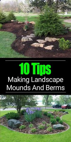 , Adding a berm to your landscape design can improve the look of your overall garden and become a focal point. LEARN 10 Tips to build a berm on mound. , 10 Berm Landscaping Tips: Building A Berm Or Landscape Mounds Landscape Plans, House Landscape, Landscape Designs, Landscape Architecture, Flower Landscape, Abstract Landscape, Landscape Edging, Back Yard Landscape Ideas, How To Landscape