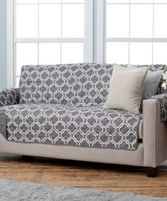 This Charcoal Reversible Sofa Furniture Protector by Home Fashion Distributors is perfect! #zulilyfinds