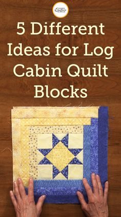 5 Different Ideas for Log Cabin Quilt Blocks Log Cabin quilt blocks are a timeless, and simple pattern easy for any quilter to master. However, more experienced quilters still love them, as Log Cabin blocks can be made many different ways. Log Cabin Quilts, Log Cabin Quilt Pattern, Log Cabin Patchwork, Patchwork Quilting, Scrappy Quilts, Modern Quilt Patterns, Quilt Block Patterns, Pattern Blocks, Quilting Tutorials