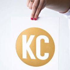 Gold KC print