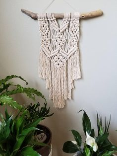 Check out this item in my Etsy shop https://www.etsy.com/ca/listing/577315101/macrame-wall-hanging-on-driftwood