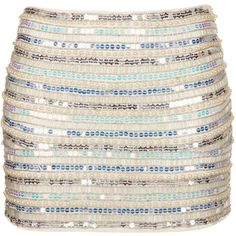 TOPSHOP Pearl and Sequin Mini Skirt