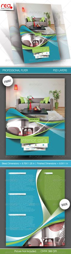 Architecture & Interior Designer Flyer Template  #GraphicRiver        SPECIFICATION  Both Side Flyer Template is 8.5 by 11 in (8.75 in by 11.25 in with bleeds) and is ready for print, because it's in CMYK at 300 dpi. The psd file can be edited in Photoshop, and to be simple able to change the text.   2 Layered Photoshop file in zip folders with editable text and Simple to Customize. replace colours, text, add images & your logos, etc.   Help file included   NOTE : The photos used in the…