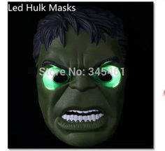 Find More Party Masks Information about Newest LED Glowing Mask Boy Birthday Gift Hulk Party Mask for Male Blue LED Eyes Halloween Party Mask Free Shipping ,High Quality mask for sensitive skin,China gifts delivered to your door Suppliers, Cheap gift box cakes pictures from Igo Lighting Nine Co., LTD on Aliexpress.com