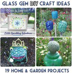 Home & Garden Glass Gem DIY Craft Ideas - free instructions