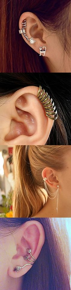 Whether you're feeling a dainty hoop or a full-on statement piece, there's a cuff for anyone who wants to add a little edge to their cartilage.Take note: plenty of versions don't require pierced ears.Take yours today!