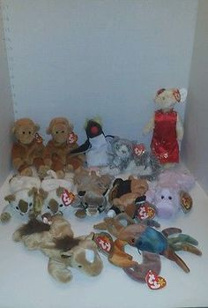TY Beanie Babies Lot 12  plush Attic Treasures Beanie Collection