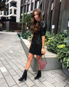 Leather Skirt, Ss, Women's Fashion, Street Style, Outfits, Skirts, Ideas, Colored Pants, Crisp White Shirt