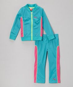 Take a look at this Bluebird Zip-Up Jacket & Track Pants - Infant & Girls by PUMA on #zulily today!