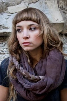 Hey, I found this really awesome Etsy listing at https://www.etsy.com/listing/116981817/free-shipping-ombre-braided-slate-scarf