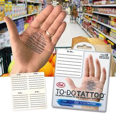 この発想はなかったw メモを手のひらに貼ることができるタトゥーシール