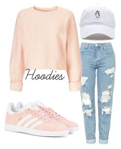"""Cute hoodie"" by mynameissari ❤ liked on Polyvore featuring Topshop, adidas Originals and Miss Selfridge"
