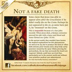 Jesus died for real unlike what Muslims claim Catholic Answers, Catholic Beliefs, Catholic Prayers, Catholic Saints, Roman Catholic, Christianity, Catholic Catechism, Religious Education, Lent