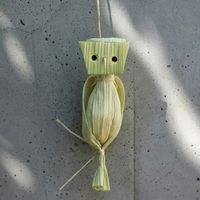 Corn Husk Owl - Things to Make and Do, Crafts and Activities for Kids - The Crafty Crow