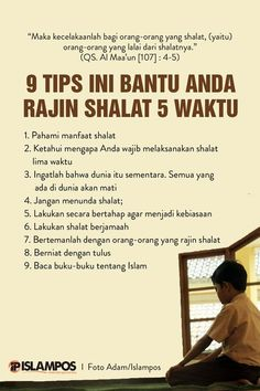 Tips Ini Bantu Anda Rajin Shalat 5 Waktu 1 Hijrah Islam, Doa Islam, Reminder Quotes, Self Reminder, Quran Quotes Inspirational, Motivational Words, Moslem, Islamic Quotes Wallpaper, Religion Quotes