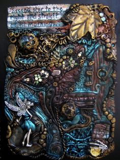 Neverland Inspired Polymer Clay Journal Cover by RoyalKitness on deviantART - this is journal inspiration at it finest
