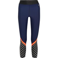 P.E Nation Down to the Wire printed stretch leggings (148 AUD) ❤ liked on Polyvore featuring navy