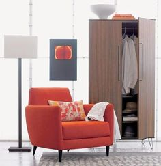 Add chic seating to your space with modern chairs from Browse stylish lounge chairs, dining room chairs, outdoor seating and more. Modern Storage Furniture, Furniture Decor, Small Closets, Clothing Storage, Bedroom Accessories, Dining Room Chairs, Modern Chairs, Apartment Therapy, Storage Spaces