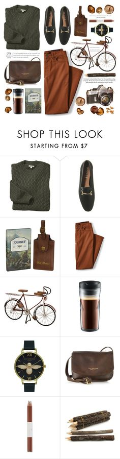 """""""A Walk in the Forest"""" by monazor ❤ liked on Polyvore featuring Barbour, Ted Baker, Lands' End, Dot & Bo, Bodum, Olivia Burton, The Bridge and Faber-Castell"""