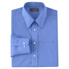 Men's Croft & Barrow® Classic-Fit Solid Broadcloth Point-Collar Dress Shirt, Size: 1