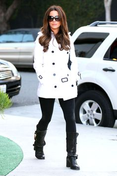 White trench. sophisticated and cute. ♥