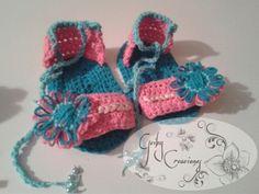 Sandalias para niña #crochet @geibycreaciones
