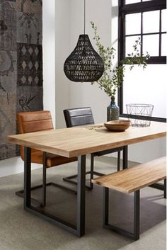 50 Enchant Industrial Dining Room Design with California Style Ideas - Decorate Your Home Decor, Furniture, Industrial Dining Room Lighting, Room Design, Dining Room Design, Home Decor, House Interior, Dining Room Decor, Dining Room Industrial
